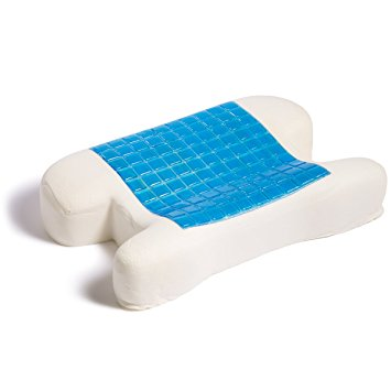 Hermell Products Cooling Gel Memory Foam CPAP Pillow