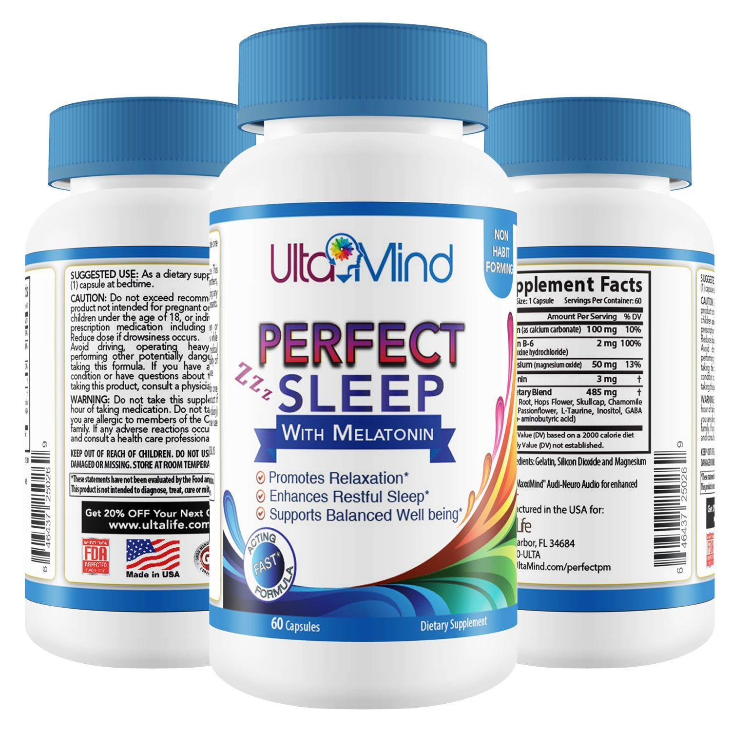 PERFECT SLEEP Natural Sleep Aid Pills