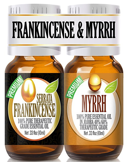 Frankincense and Myrrh Essential Oil Combo Pack