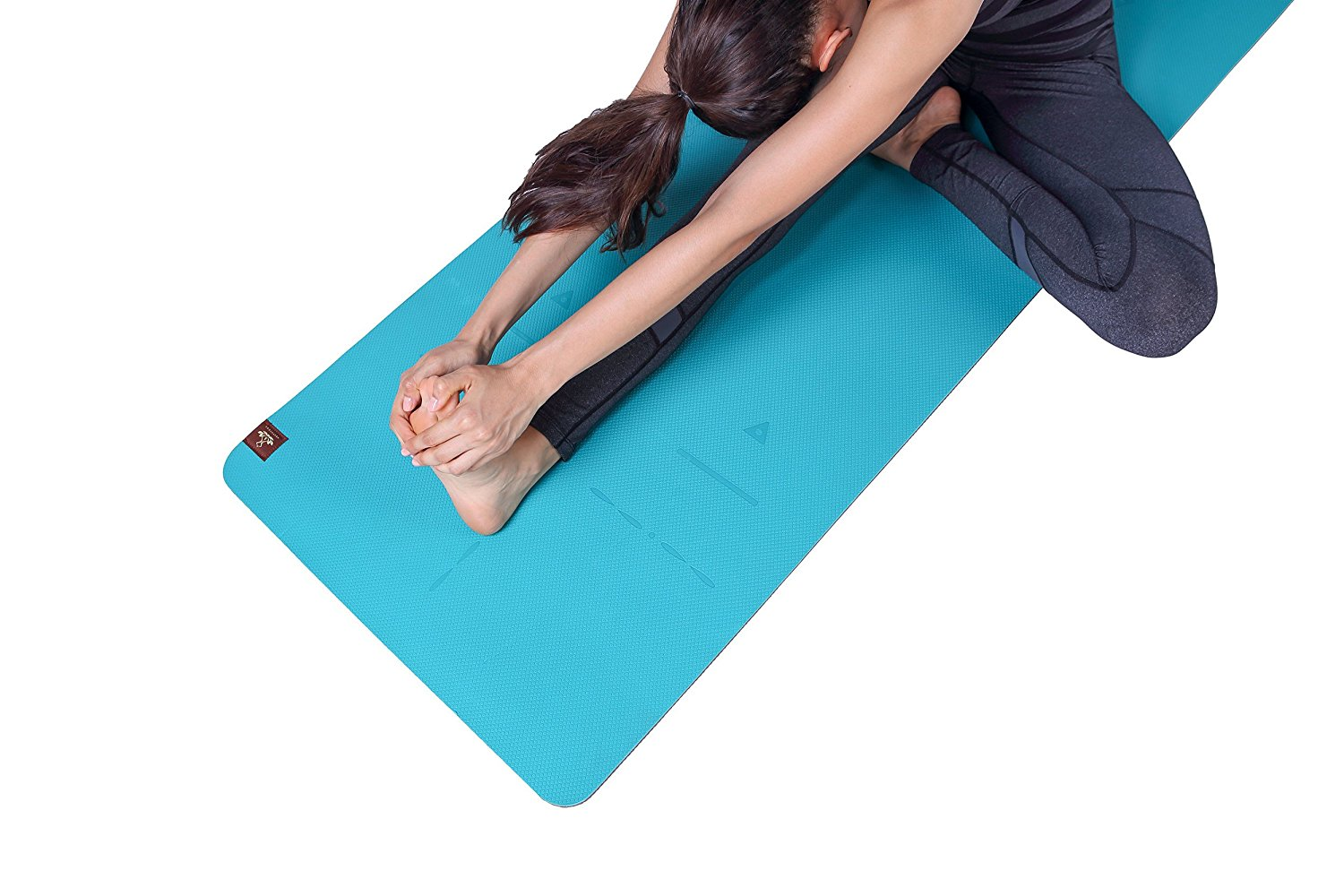 Heathyoga Eco Friendly Non Slip Yoga Mat, Body Alignment System, SGS Certified TPE Material