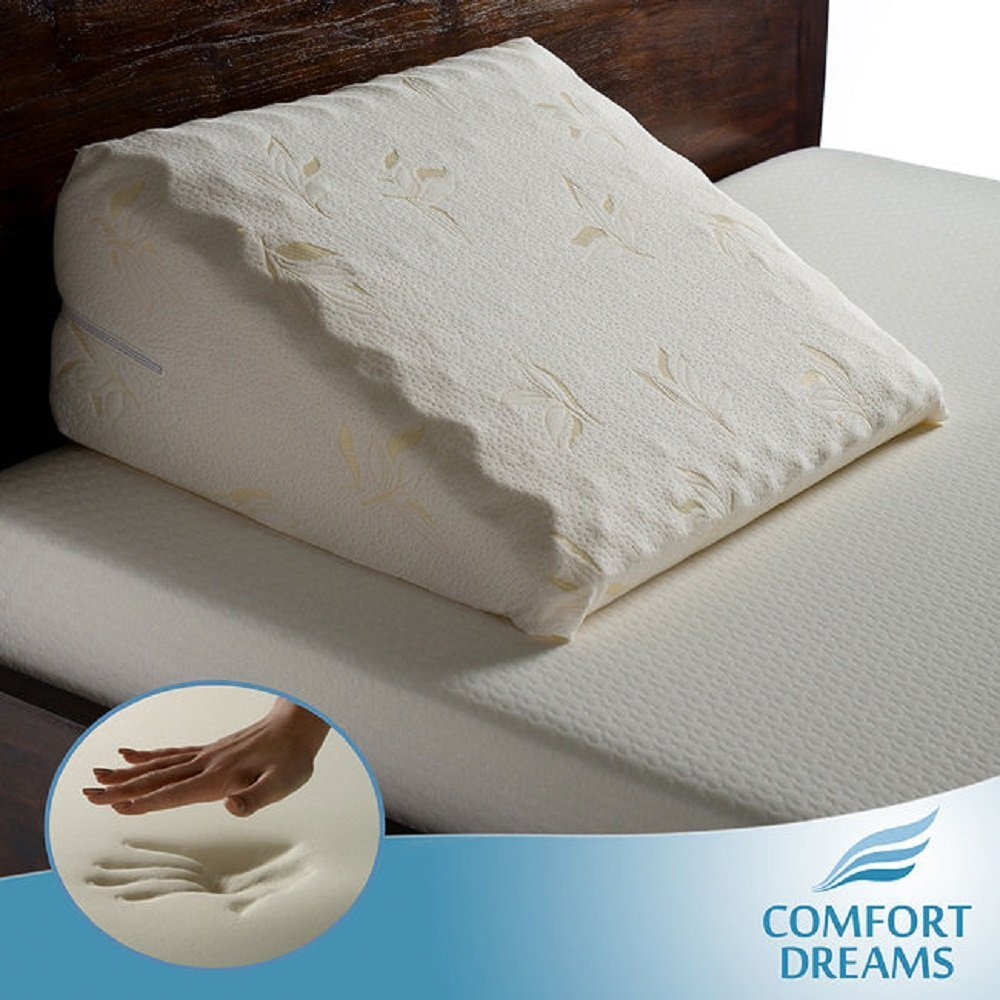 Comfort Dreams Elegant Memory Foam Bed Wedge Pillow