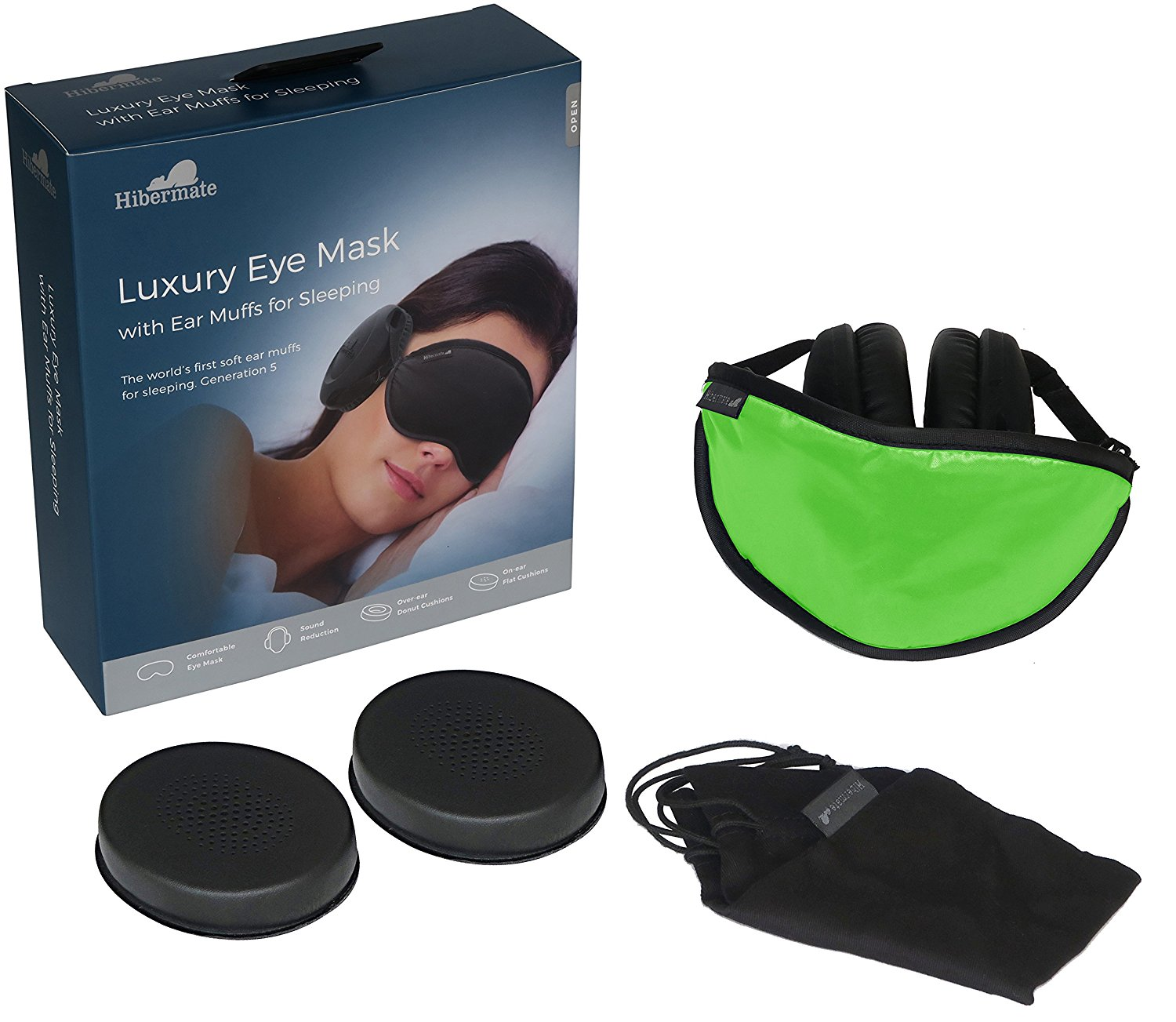 Hibermate Sleep Mask with Ear Muffs