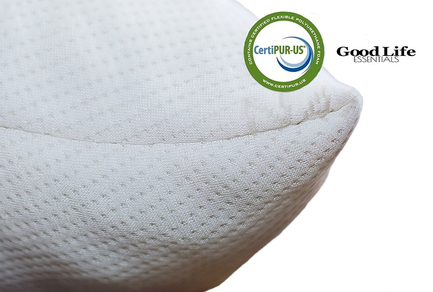 Good Life Essentials Shredded Memory Foam Hypoallergenic Pillow with Stay Cool Bamboo Cover